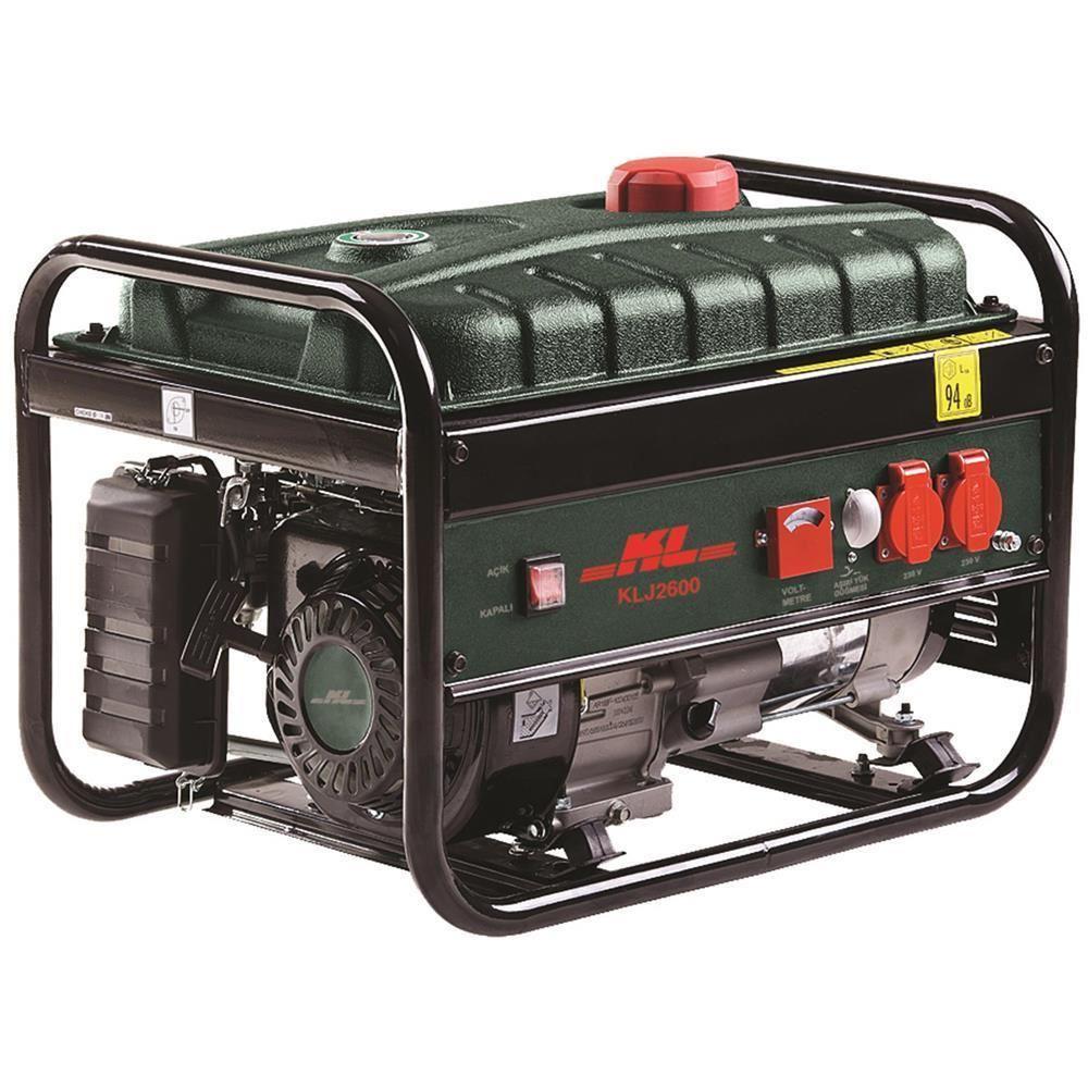 KL KLJ2600 5.5Hp 2.2kVA Benzinli Jeneratör