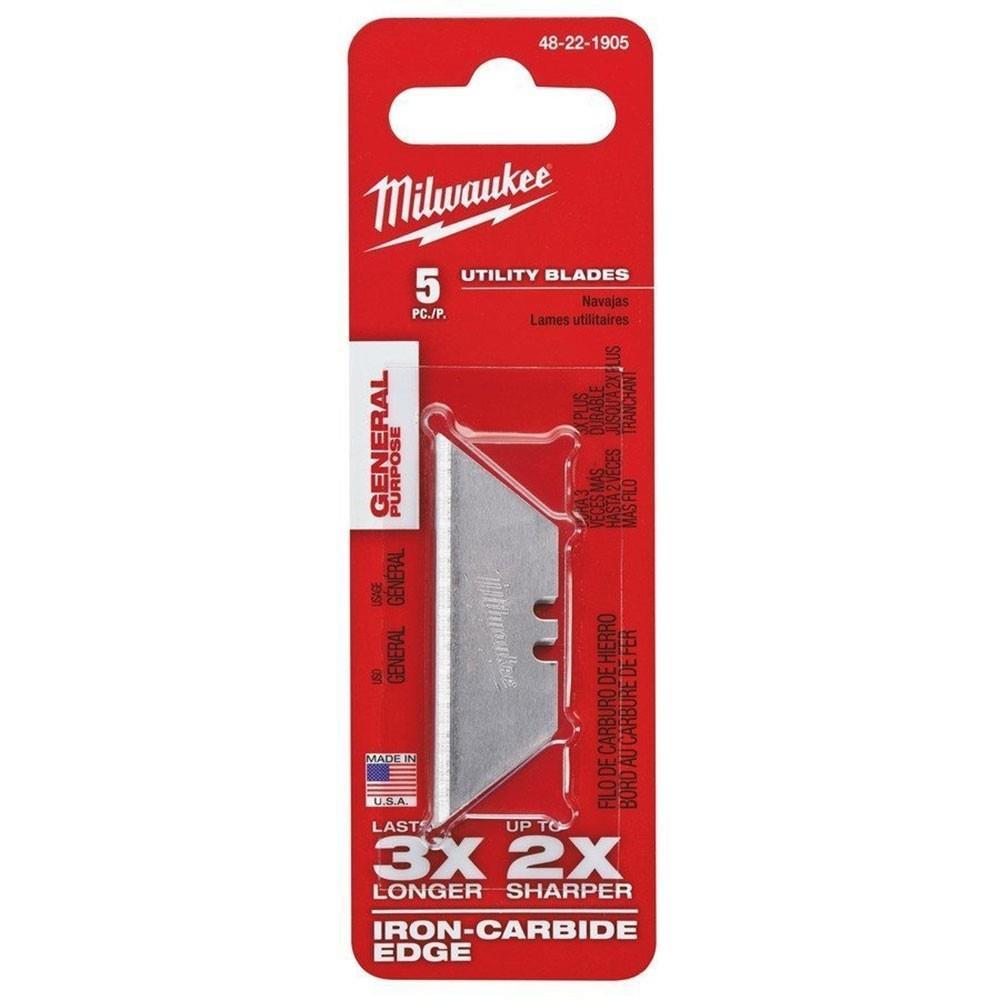 Milwaukee T48221905 Ağır Hizmet Tipi Fastback™ Maket Bıçağı Yedeği 5'li