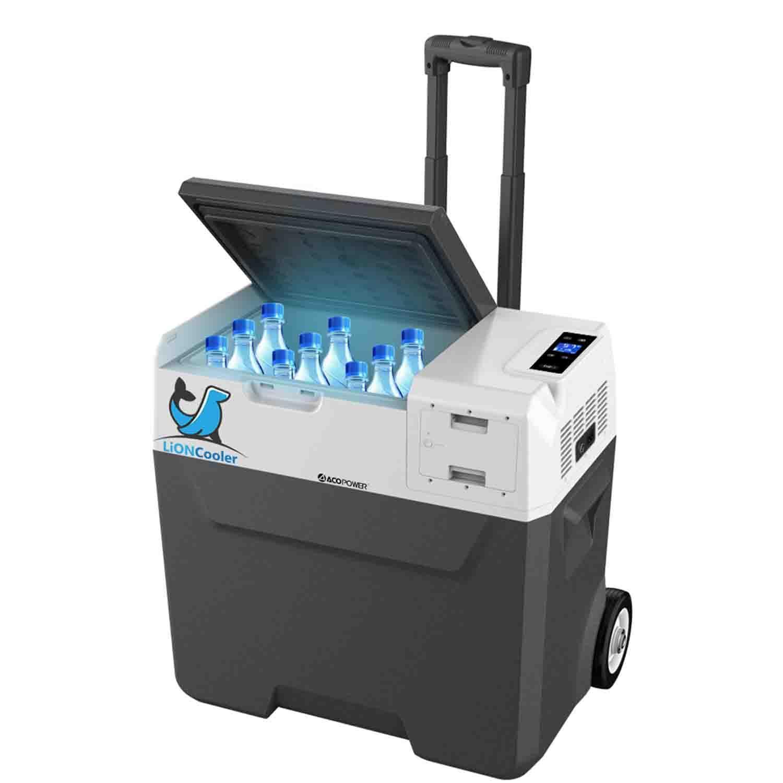 Acopower X50A 12/24/220Volt Akülü/Kablolu 50Litre Kompresörlü Outdoor Oto Buzdolabı