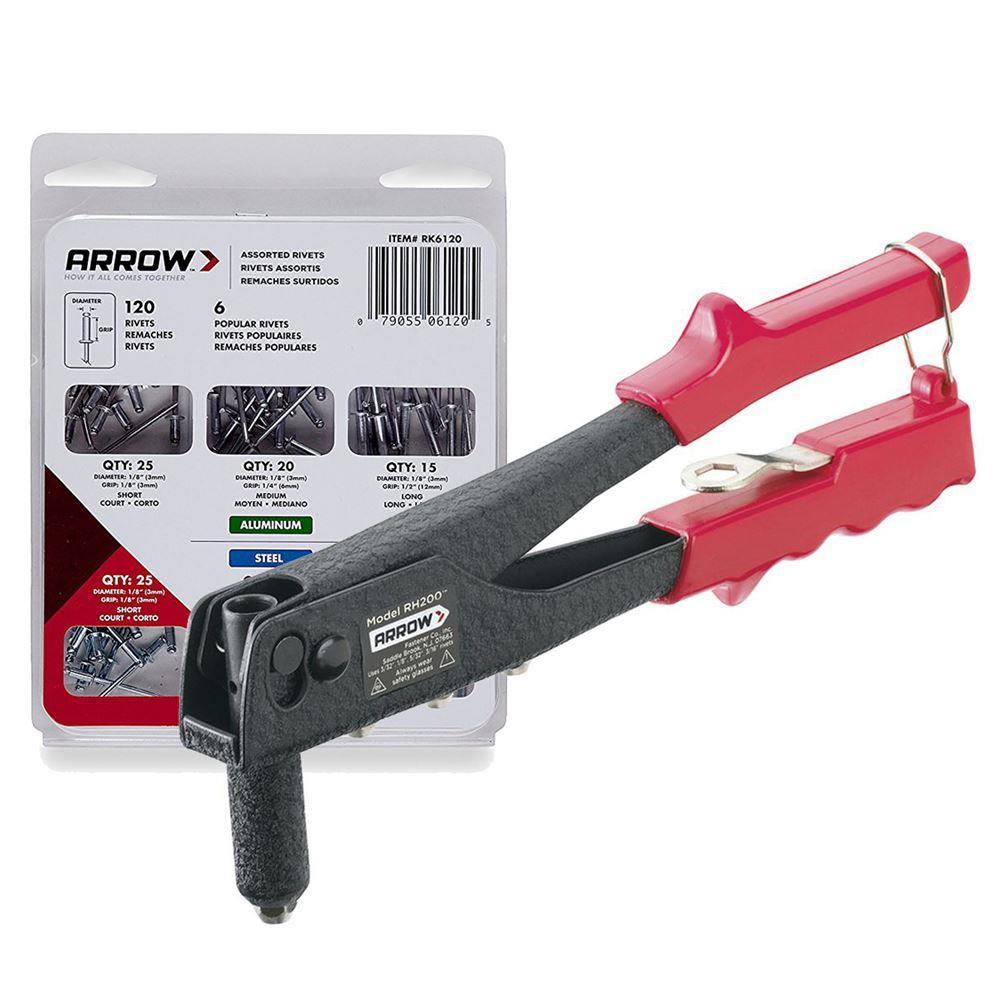 Arrow RH200S 2.5-5mm Profesyonel Perçin Tabancası + 120 Adet Perçin