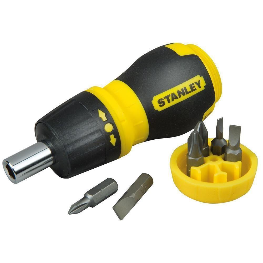 Stanley ST066358 Topaç Tornavida Seti, 6 Parça Cırcırlı, PH1 PH2 PZ1 PZ2 4.5mmdüz 6mmdüz